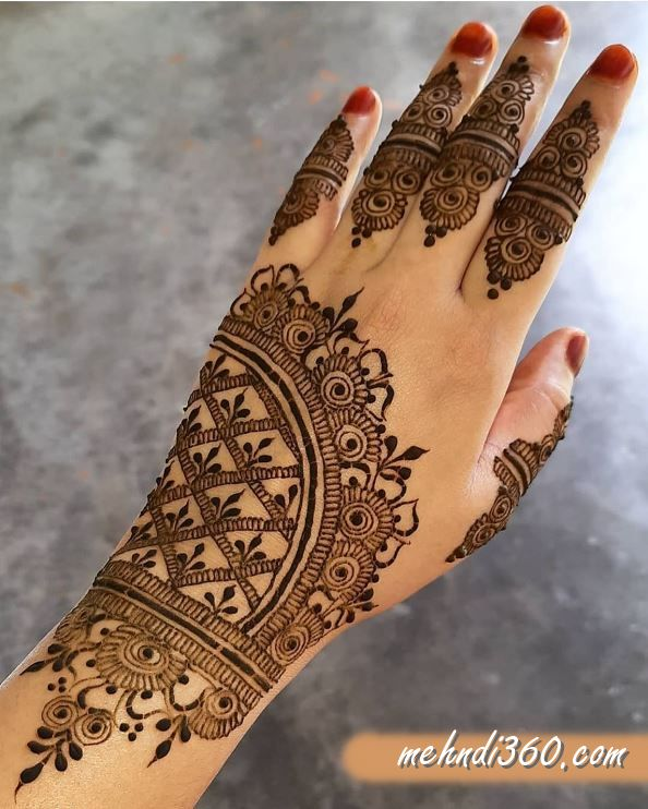 Royal Henna Designs for Back Hand
