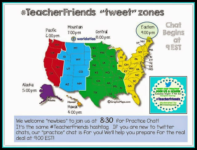 #TeacherFriends Time Zones for Twitter Chat Participation