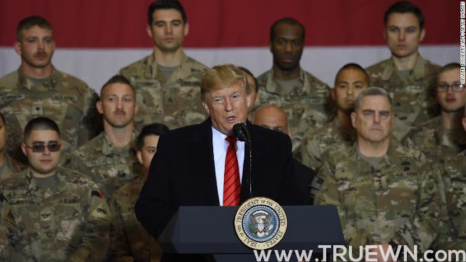 President Trump spends Thanksgiving in Afghanistan, visits with troops