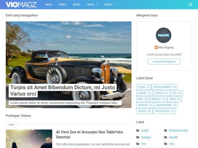 Download Template Blogger Premium VioMagz v2.9 Terbaru