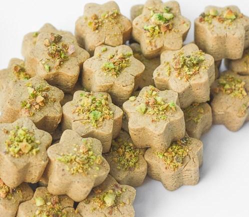 PERSIAN CHICKPEA COOKIES WITH PISTACHIO (NAN-E NOKHODCHI) #vegetarian #vegan