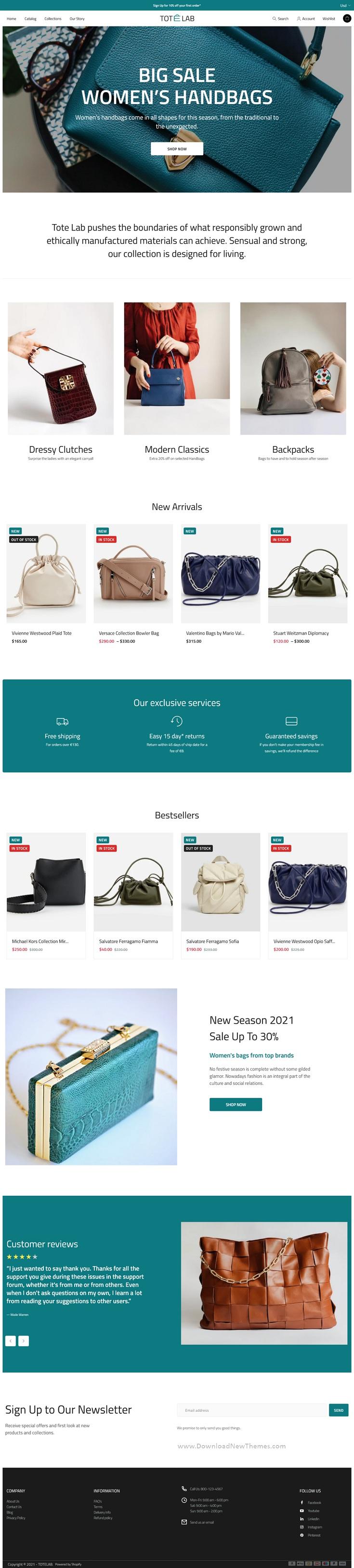 Fashion Bags Store Shopify Theme