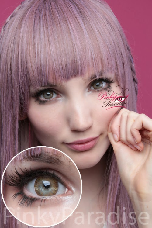 Vassen Rainbow Eyes Brownish Hazel On Light Eye Circle Lenses (Colored Contacts)