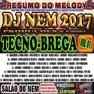CD DE TECNO BREGA DJ NEM 2017 l RESUMO DO MELODY l WWW.RESUMODOMELODY.COM