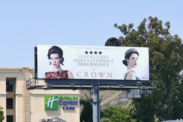 Crown Vanessa Kirby 2018 Emmy FYC billboard