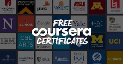 دورات كورسيرا المجانية عبر الإنترنت مع شهادات مجانية 2021