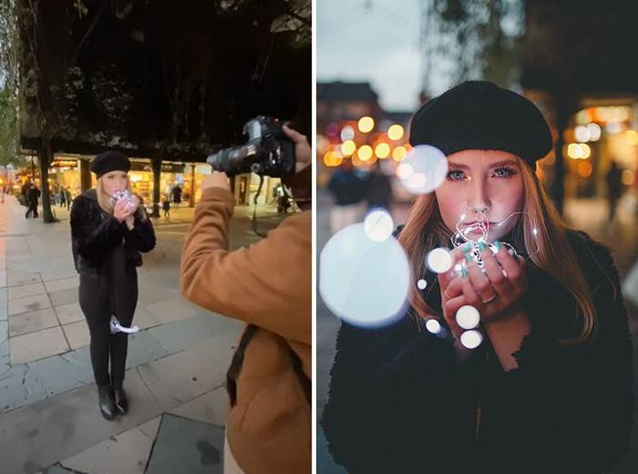 The guy takes pictures of strangers on the street and the result is breathtaking