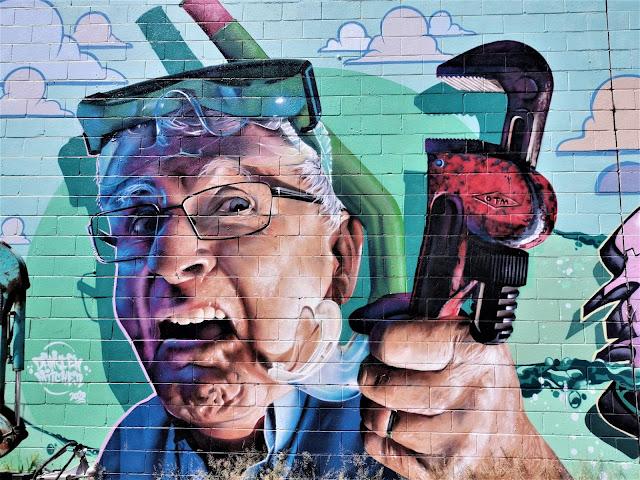 Street Art by Damien Mitchell, Styless400_ & Tune Mona in Wagga Wagga