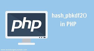 PHP pbkdf2() Function