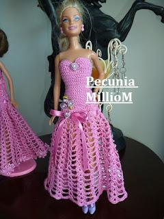 DIY Croche Para Bonecas Barbie Vídeo Tutorial Vestido de Festa Modelo 1 Com Pecunia MillioM