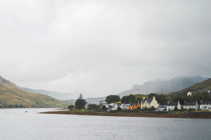 Ville de Dornie dans les Highlands en Ecosse