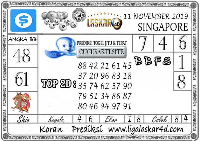 Prediksi Togel SINGAPORE LASKAR4D 11 NOVEMBER 2019