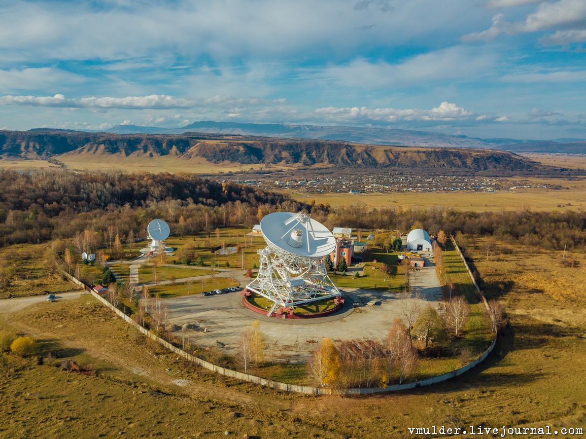 Обсерватории Зеленчукского района Карачаево-Черкессии с высоты птичьего полёта
