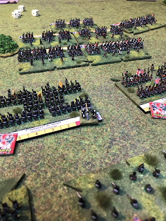 The British lines are threatened by the Imperial Guard infantry