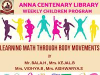 Weekly Children Program - LEARNING MATHS THROUGH BODY MOVEMENTS - 22.09.2019