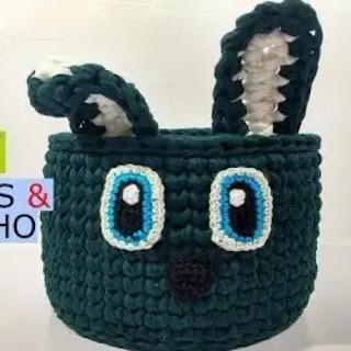 Cesto Conejo a Crochet
