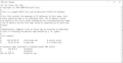 DNS host entry