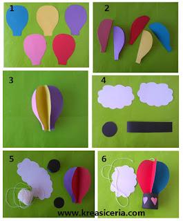 Tutorial cara membuat balon udara dari kertas warna