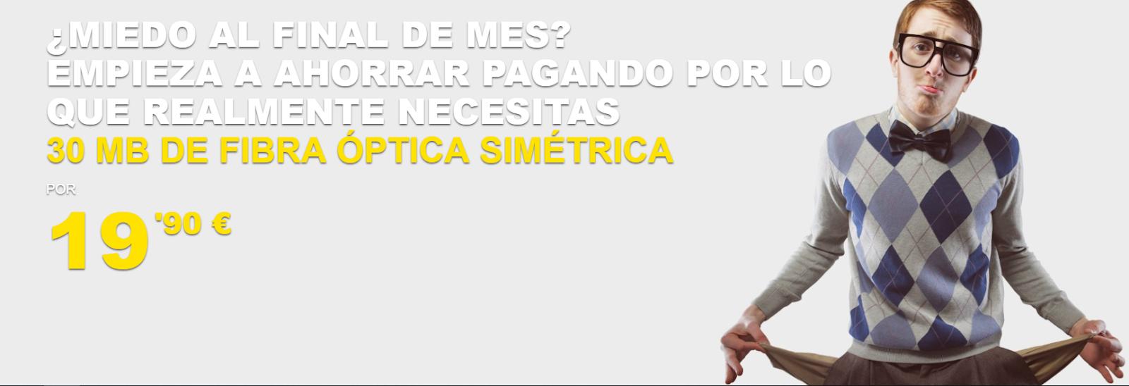 Ahí+ ofrece fibra 30 mb simétricos a 19,90 euros