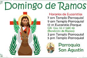 Eucaristías Domingo de Ramos 2021
