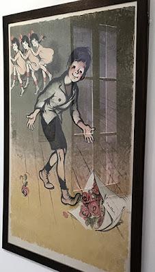 Francisque Poulbot illustration in Montmartre muséum