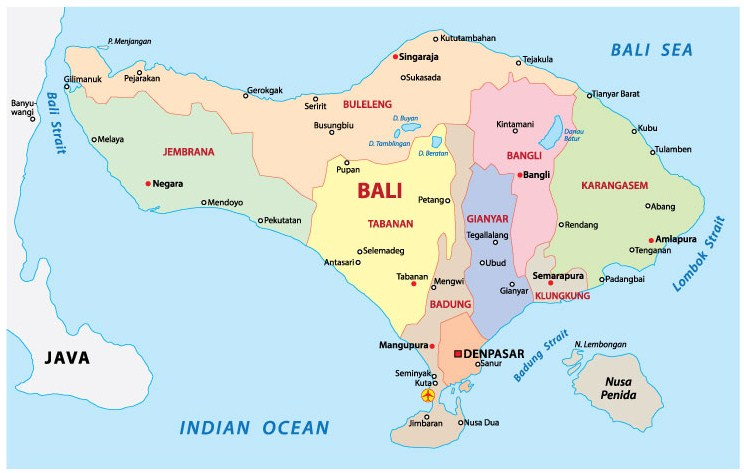 Bali map make easy to exploring wonderfull island kuta bali trip the map of bali was made to help people preparing to visit bali obtain a general idea of the main hotel areas wherever the majority of visitors stay gumiabroncs Gallery