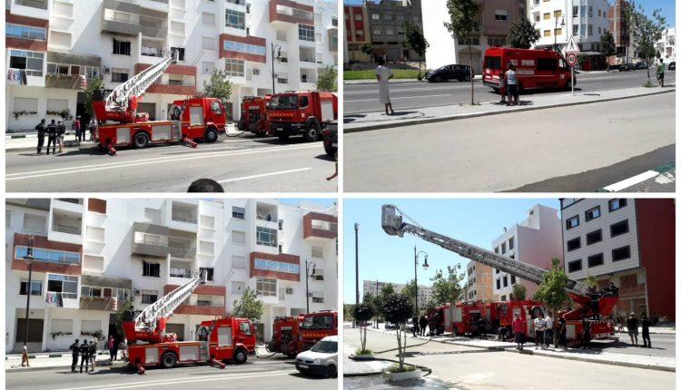 خلاف زوجي يشعل حريقا كاد يتسبب في كارثة بمجمع سكني في طنجة