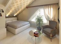 Decorating small attic bedroom