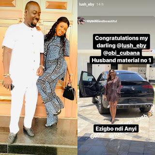 GX GOSSIP: Obi Cubana gifts wife Ebele Iyiegbu a 2021 Mercedes-Benz GLE53