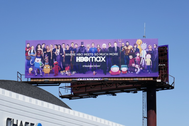 HBO Max launch billboard