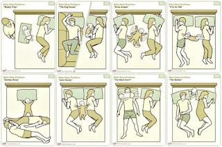 différentes positions pour dormir