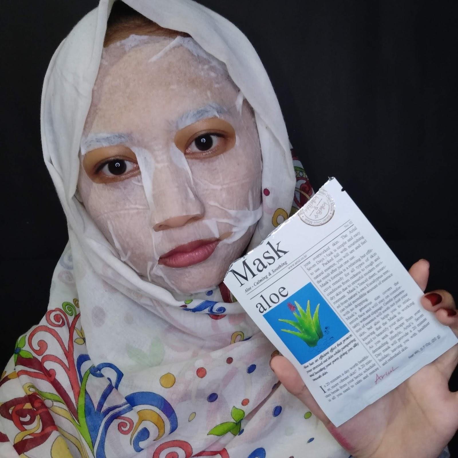 7 Days Sheet Mask Challenge Day 1