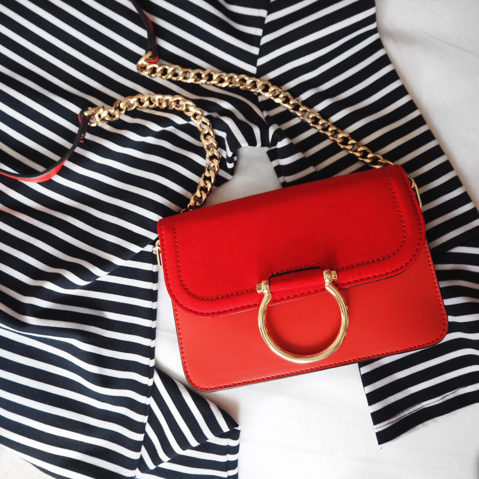 Red Topshop Crossbody Bag - Life in Excess Blog
