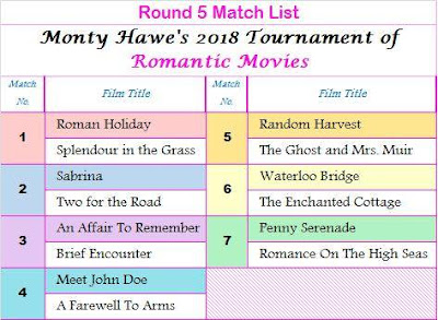ALL GOOD THINGS: Round 5 in Favorite Classic Romantic Movie