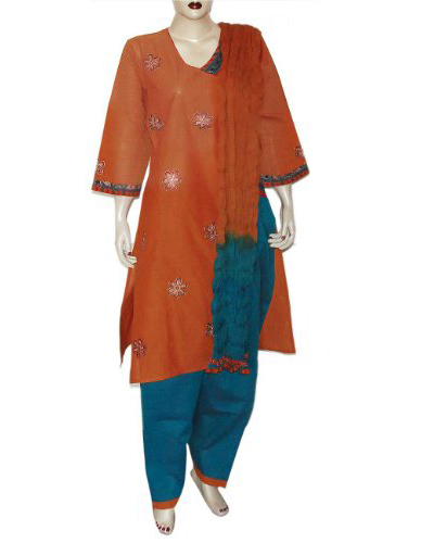Shalwar Kameez Ladies Embroidered Cotton Garments