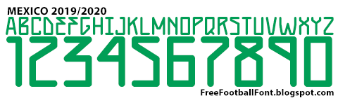 Free Football Fonts: Mexico 2019/2020 Adidas Jersey Font