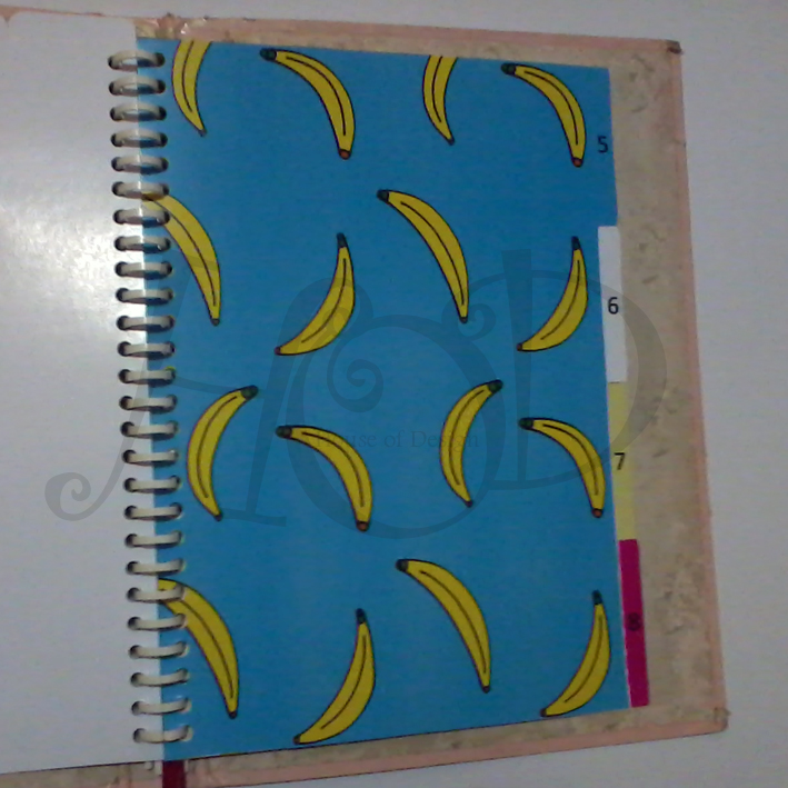 DIVIDER BINDER CUSTOM, PEMBATAS BINDER CUSTOM, PEMBATAS BINDER 26RING UKURAN B5 CUSTOM, PEMBATAS BINDER BANANA TUMBLR