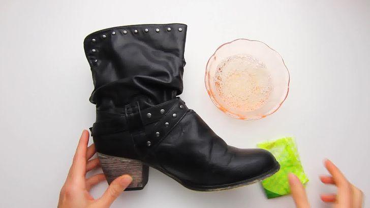 Как очистить кожаную обувь от масляных пятен фото