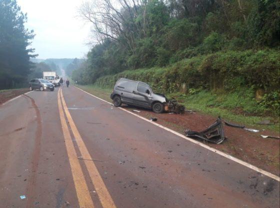 Choque frontal en la ruta 12 dejó un hombre fallecido