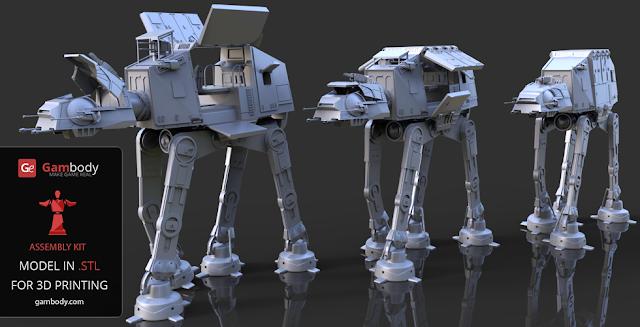 AT-AT walker 3d model from Star Wars