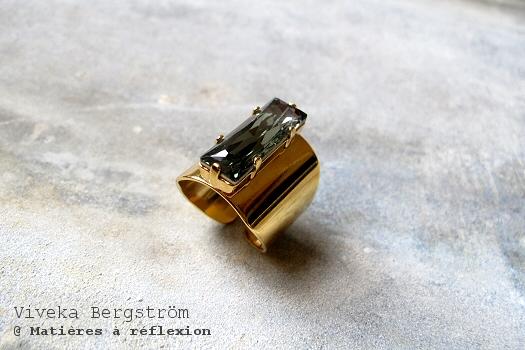 Bague XL Viveka Bergstrom cristal d'autriche