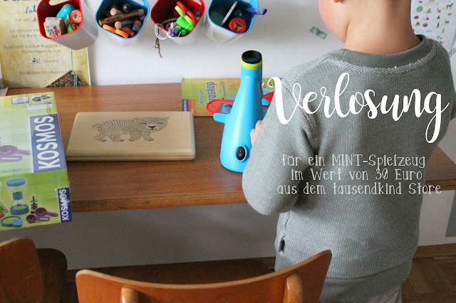 Verlosung MINT Spielzeug tausendkind Geschenkideen Forscher Mikroskop Kindergartenkinder Jules kleines Freudenhaus