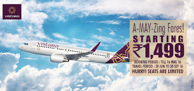 Vistara A-MAY-zing Fares
