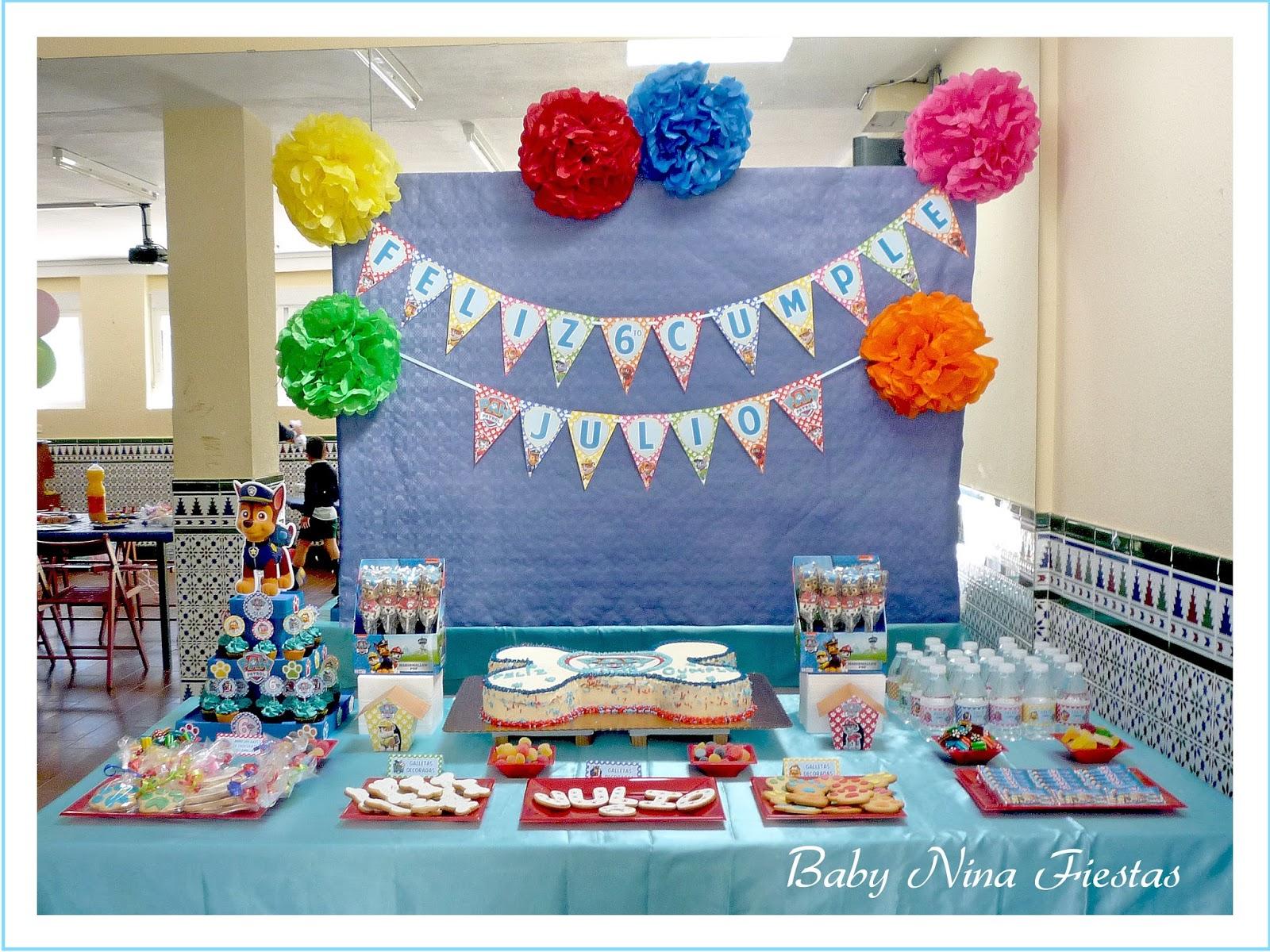 Baby nina fiestas mesa dulce patrulla canina para julio - Decoracion de la patrulla canina ...