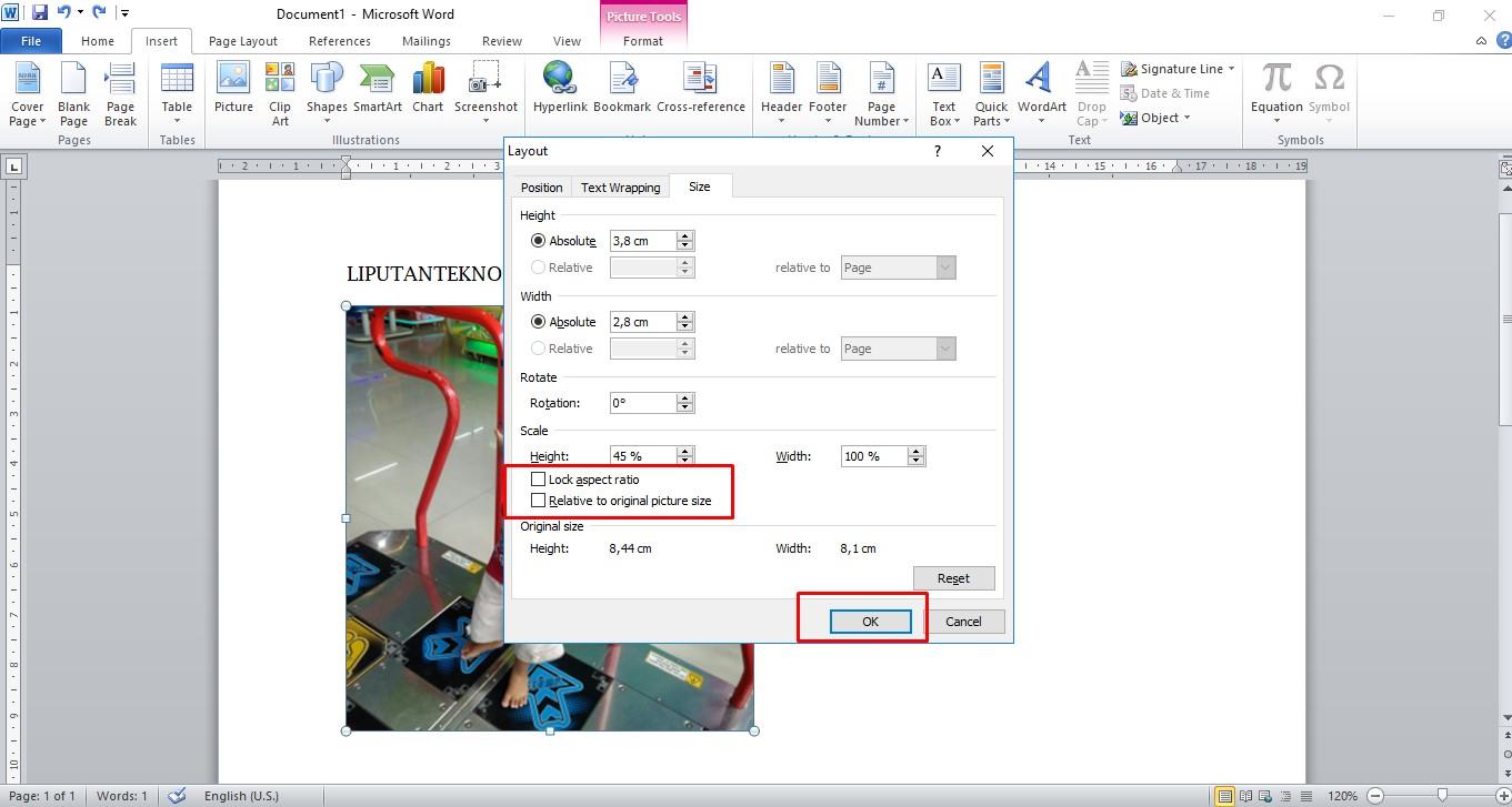 Cara Membuat Ukuran Foto 4x6 Di Microsoft Word 2013 ...