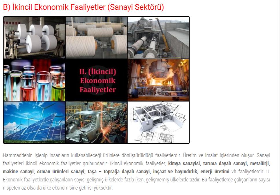 ikincil-ekonomik-faaliyetler-sanayi-sektoru
