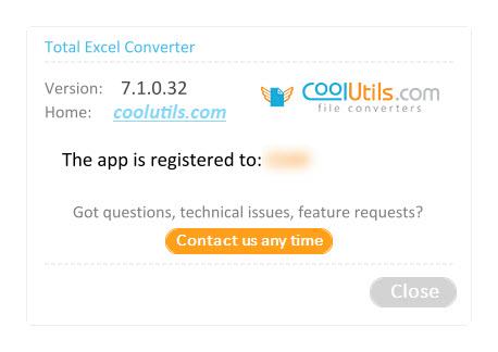 Coolutils Total Excel Converter 7.1.0.32