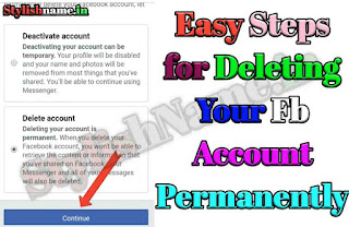 How to del fb account Permanently