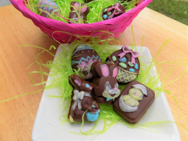 A picture of homemade Easter candy on a dish