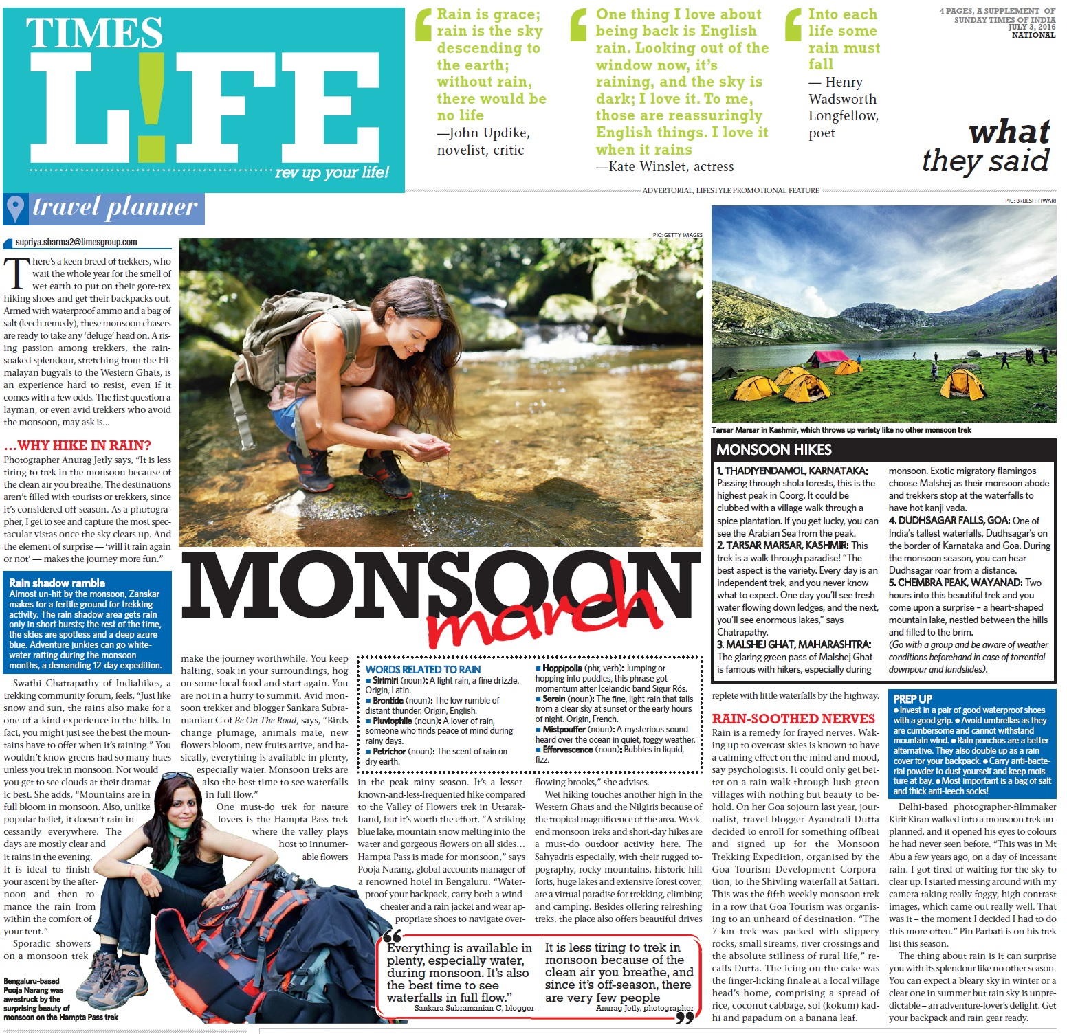 Times Life - Monsoon March - Jul 03, 2016